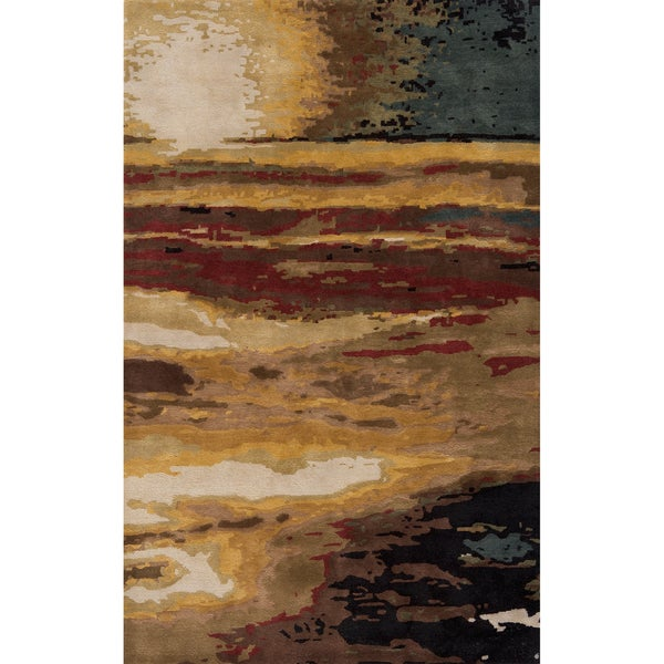 "Monet Sunset Multi Hand-Tufted Wool Rug (5'3"" x 8')"