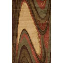 "Monet Motion Multi Hand-Tufted Wool Rug (5'3"" x 8')"