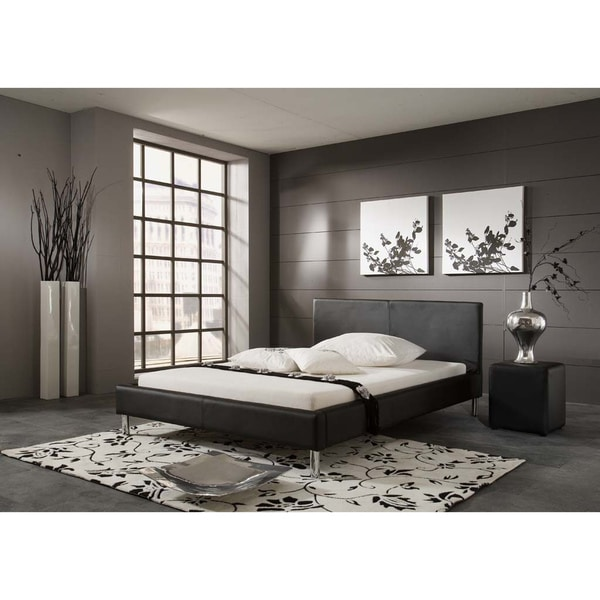 matisse monte black contemporary platform king size bed frame