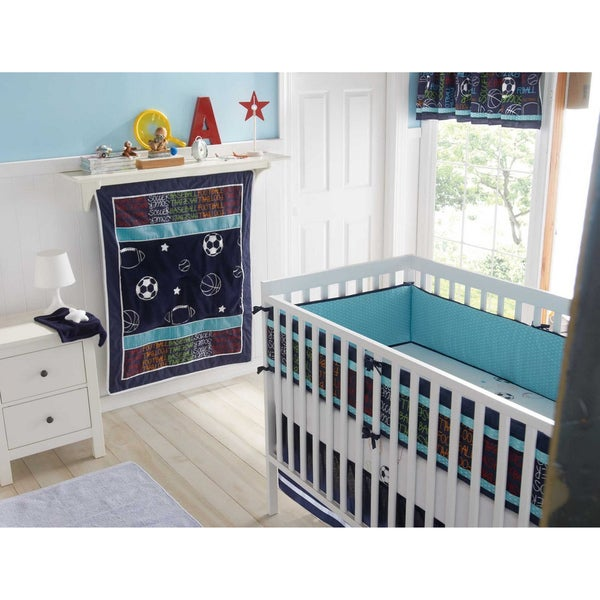Big Believers Athletic Department 5-piece Crib Bedding Set