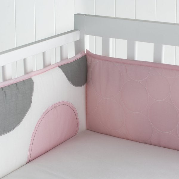 Big Believers Pink Parade Crib Bumper