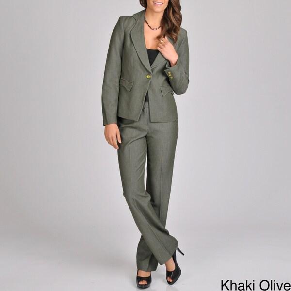Signature by Larry Levine Women's Fashion Pant Suit
