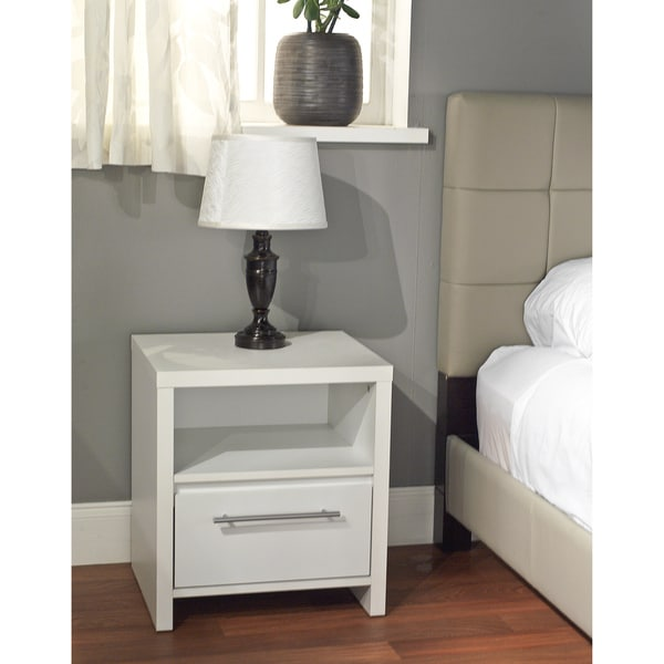 Simple Living White Night Stand Free Shipping Today