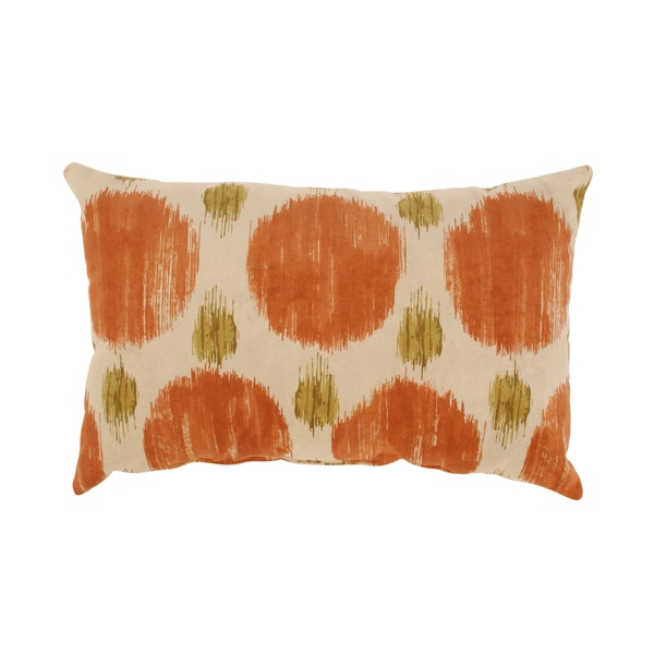Polkaspot Rectangular Throw Pillow in Desert