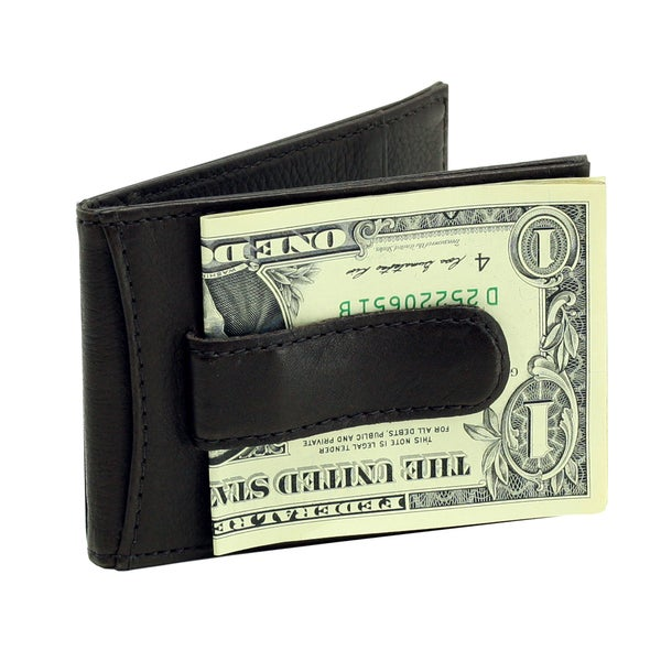 Bass Men's Leather Flip Clip Wallet with Gift Box