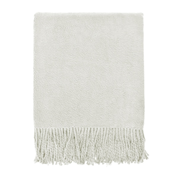 Brushed Organic Oatmeal Cotton Throw