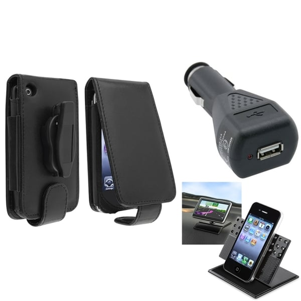 BasAcc Case/ Black Car Charger/ Holder for Apple® iPhone 3G/ 3GS
