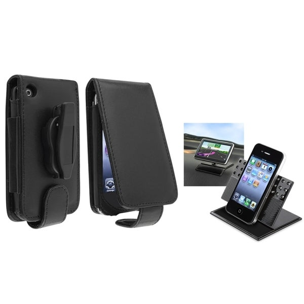 BasAcc Leather Case/ Swivel Phone Holder for Apple® iPhone 3G/ 3GS