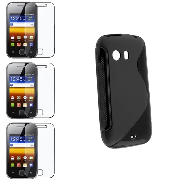 BasAcc Black TPU Case/ Screen Protector for Samsung© Galaxy Y S5360