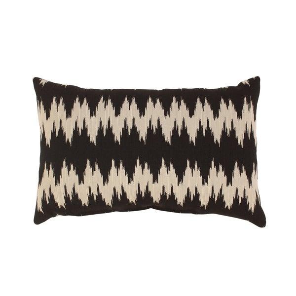 Pillow Perfect 'Gopala' Black Rectangular Throw Pillow