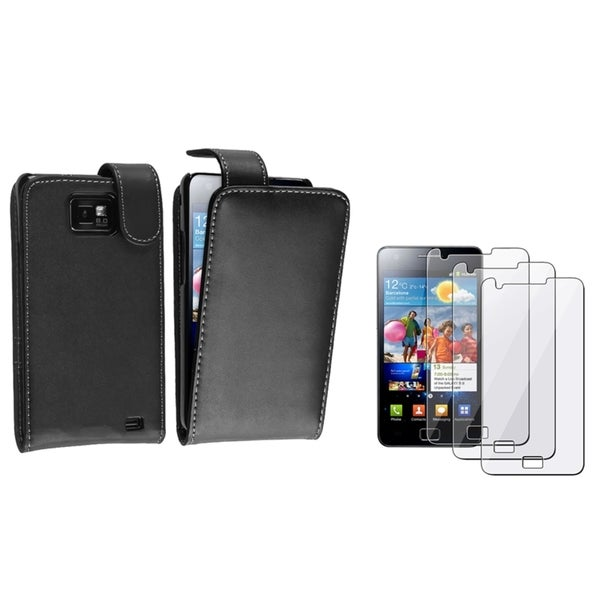 BasAcc Black Case/ Screen Protector for Samsung© Galaxy S2 i9100