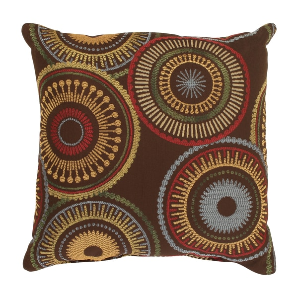 Pillow Perfect 'Riley' Brown Square Throw Pillow