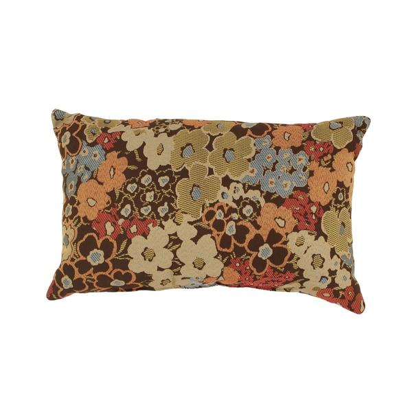 'Meadow' Brown Rectangular Throw Pillow