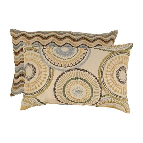 'Riley' and 'Wave' Rectangular Throw Pillows (Set of 2)