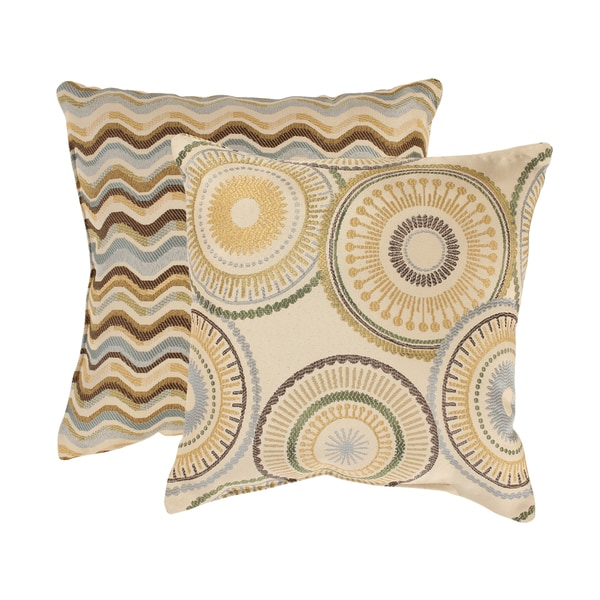 'Riley' and 'Wave' Throw Pillows (Set of 2)