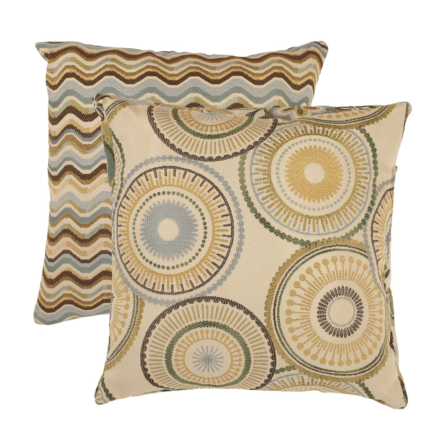 Pillow Perfect 'Riley' and 'Wave' Throw Pillows (Set of 2)