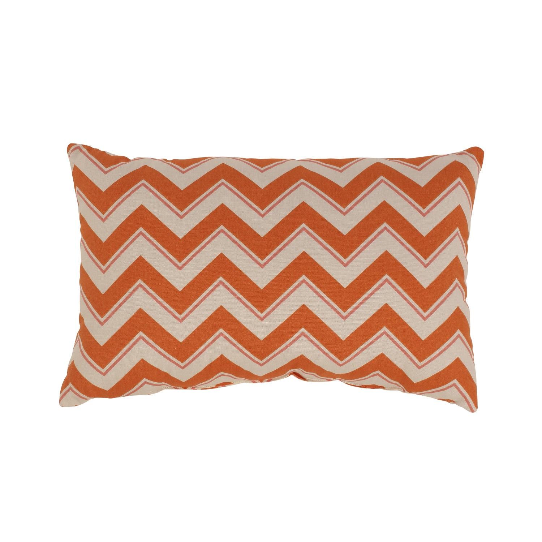 Chevron Grapefruit Rectangular Throw Pillow
