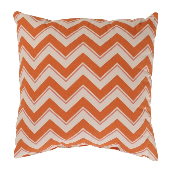 Pillow Perfect Chevron Grapefruit Throw Pillow