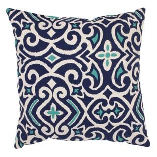 Pillow Perfect Blue/ White Damask Throw Pillow