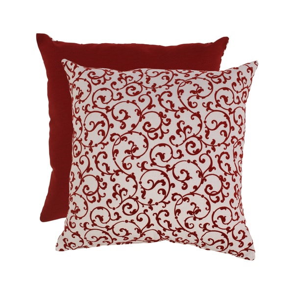 Flocked Damask 23-inch Floor Pillow