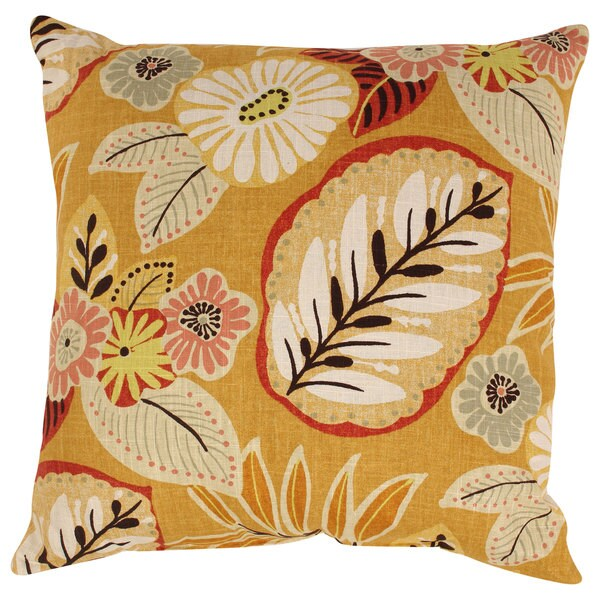 Gold Tropical 23-inch Floor Pillow