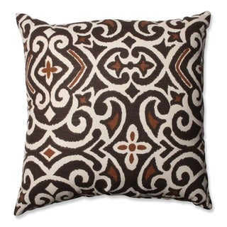 Copper Grove Tottenham Brown/ Beige Damask Throw Pillow