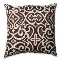 Laurel Creek Ashton Brown/ Beige Damask Throw Pillow