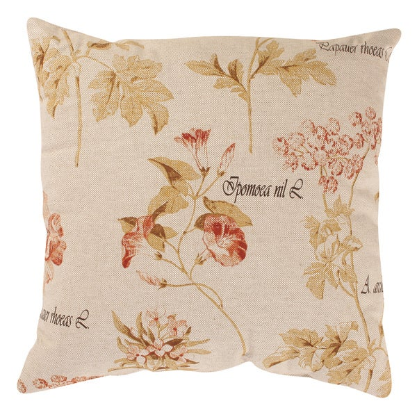 Pillow Perfect French Floral 18-inch Throw Pillow