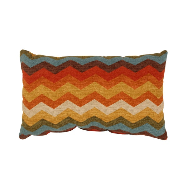 Pillow Perfect Panama Wave Rectangular Throw Pillow in Adobe