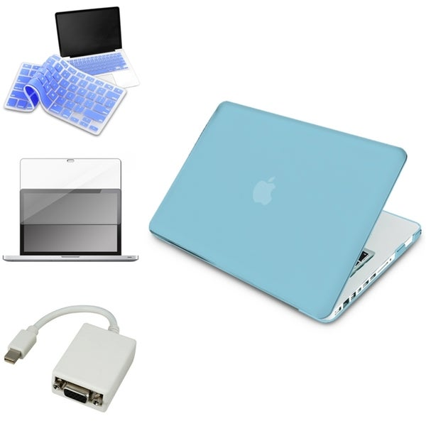 INSTEN Blue Laptop Case Cover/ VGA Adapter/ Protector/ Skin for Apple Macbook Pro 13-inch