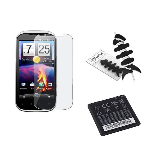 INSTEN HTC Battery/ Screen Protector/ Headset Wrap for HTC EVO