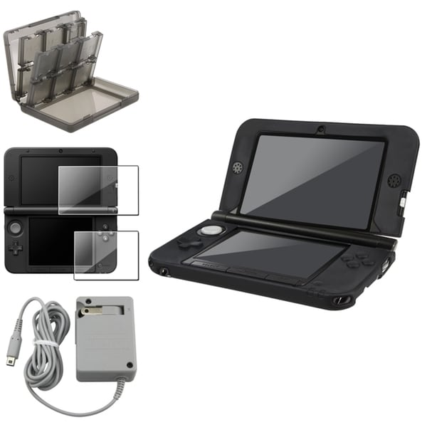 INSTEN Black Case Cover/ Protector/ Charger/ Game Case Cover Nintendo 3DS