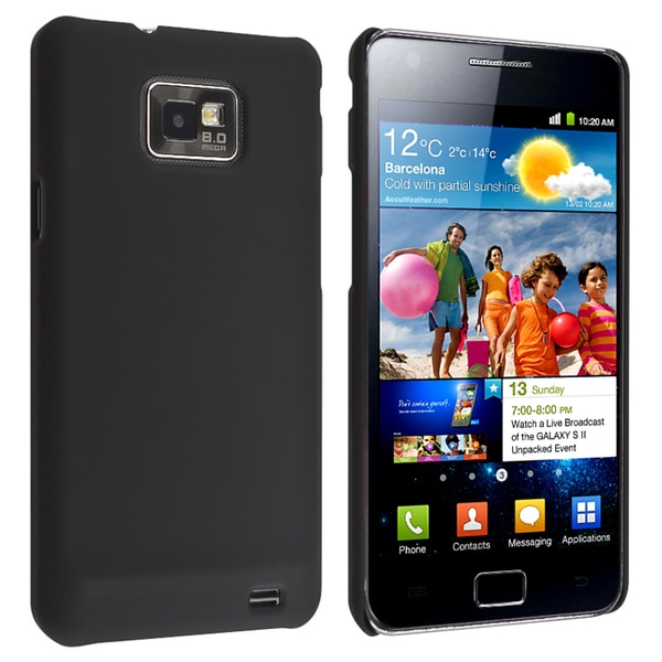 INSTEN Black Ultra-thin Snap-on Phone Case Cover for Samsung Galaxy S II/ S2 i9100