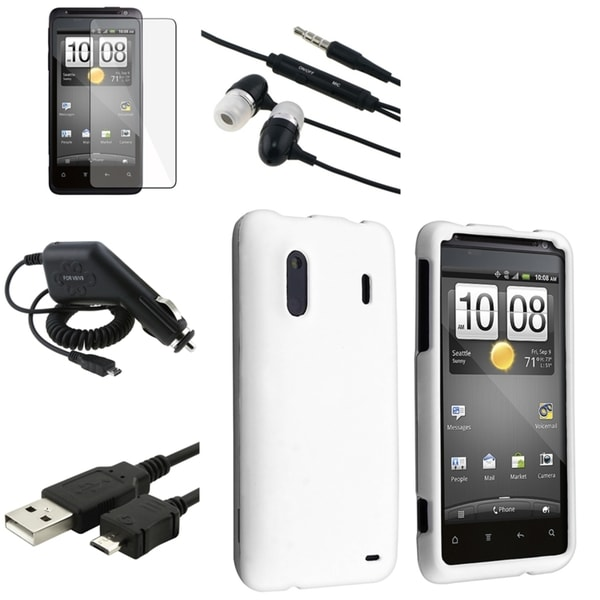 White Case/ Cable/ Protector/ Charger/ Headset for HTC EVO Design 4G