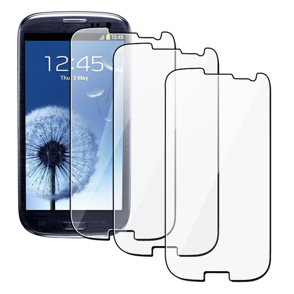 INSTEN Clear Screen Protector for Samsung Galaxy S III/ S3 i9300 (Pack of 3)