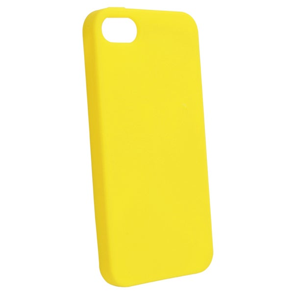 BasAcc Yellow Silicone Case for Apple iPhone 5