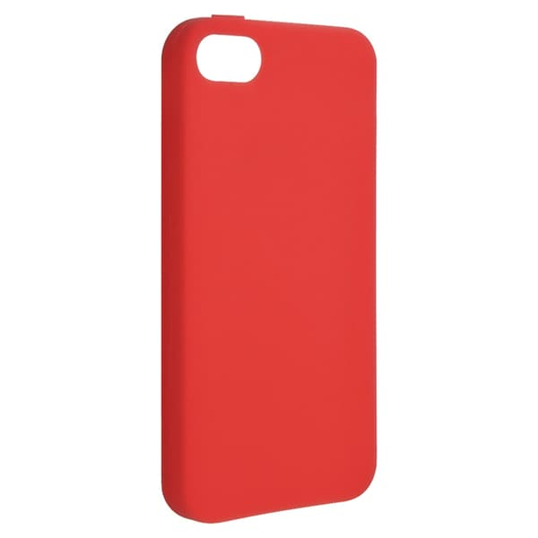 BasAcc Red Silicone Case for Apple iPhone 5