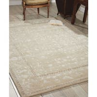 Nourison Hand-tufted Symphony Brocade Ivory Rug (8' x 11') - 8' x 11'