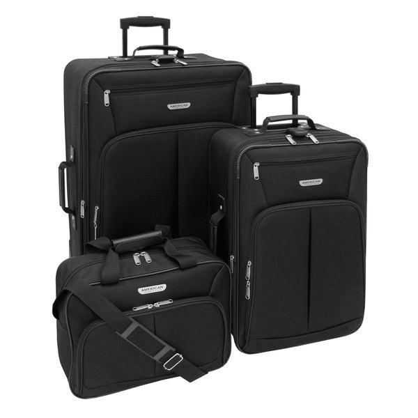 American Trunk & Case Jackson Black 3-piece Luggage Set