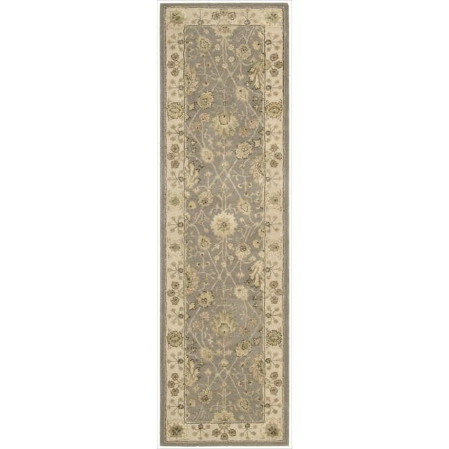 Nourison 3000 Hand-tufted Taupe Rug (2'6 x 12') Rug