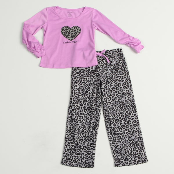 Calvin Klein Girl's Purple/ Black Sleepwear Set