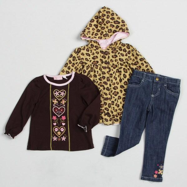 Kids Headquarters Toddler Girl's Cheetah 3-piece Set FINAL SALE