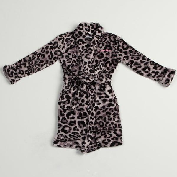Calvin Klein Girl's Leopard Print Robe