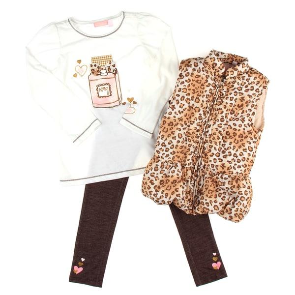 Kids Headquarters Girl's Cheetah Vest Set
