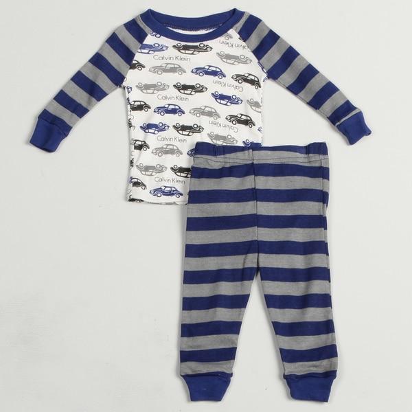 Calvin Klein Infant Boy's Car Print Sleep Set