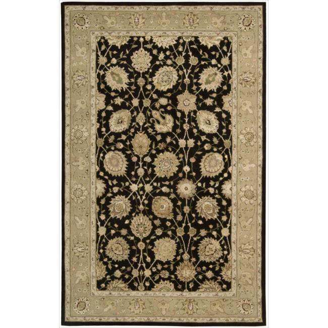 Nourison 3000 Hand-tufted Black Rug (2'6 x 4'2)