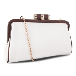 Miadora 'Lady Pia' Soft Cream Clutch