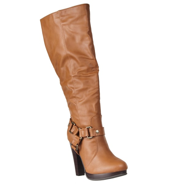 Riverberry Women's 'Magnet' High-heeled Knee-high Boots
