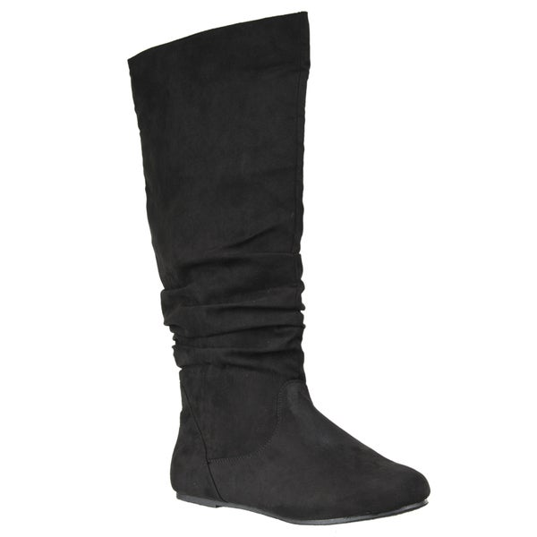 Riverberry Women's 'Rebeca' Slouchy Microsuede Fashion Boots