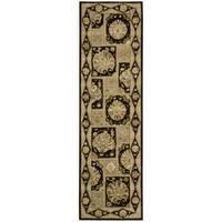 """Nourison 3000 Hand-Tufted Black Wool Runner Rug (2'3"""" x 8')"""